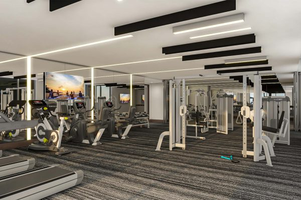 Artist's Rendering of Fitness Center