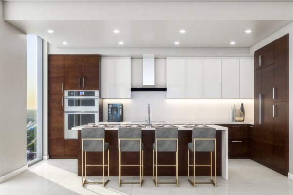 Artist's Rendering of Azure South Tower Kitchen