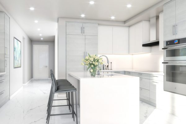 Artist's Rendering of Cobalt North Tower Kitchen