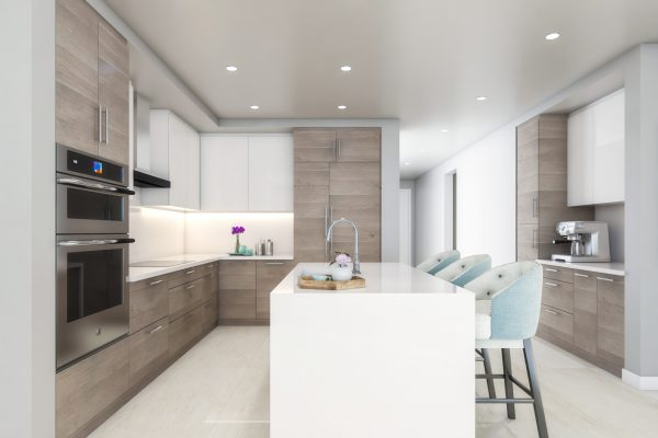 Artist's Rendering of Cobalt South Tower Kitchen