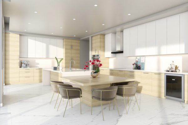 Artist's Rendering of Royal South Penthouse Kitchen
