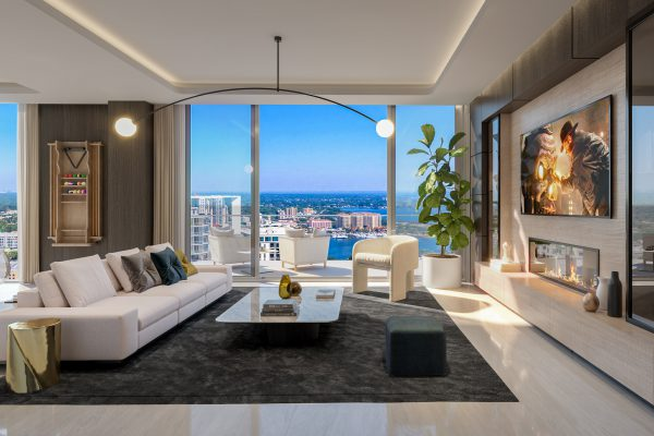Artist's Rendering of North Penthouse Family Room