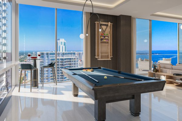 Artist's Rendering of Royal North Penthouse Game Room