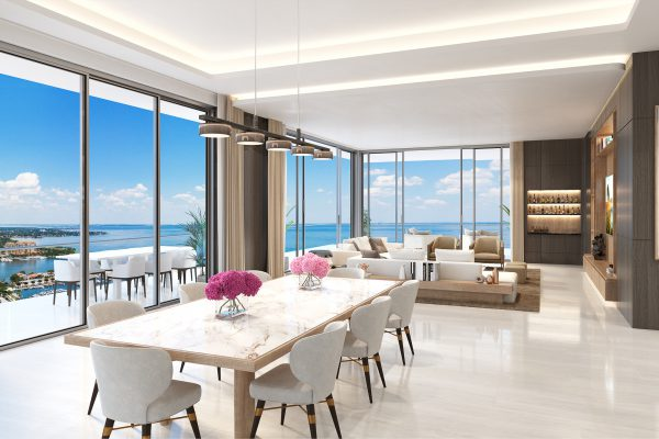 Artist's Rendering of North Penthouse Great Room