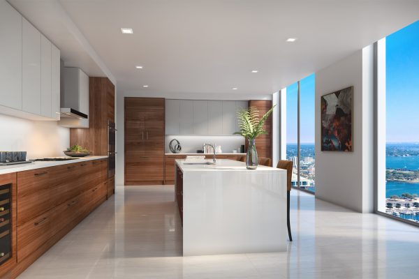 Artist's Rendering of North Penthouse Kitchen