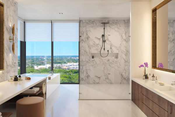 Artist's Rendering of Royal South Penthouse Owner's Bath
