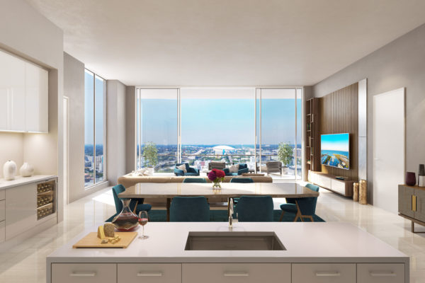 Artist's Rendering of Deep Sky North Tower Residence